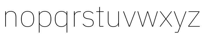 IBM Plex Sans Thin Font LOWERCASE