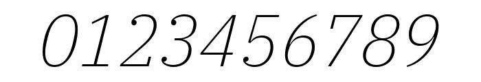 IBM Plex Serif ExtraLight Italic Font OTHER CHARS