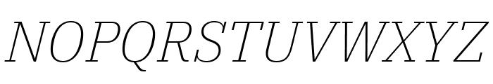 IBM Plex Serif ExtraLight Italic Font UPPERCASE