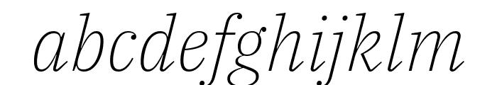 IBM Plex Serif ExtraLight Italic Font LOWERCASE
