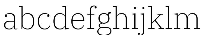 IBM Plex Serif ExtraLight Font LOWERCASE