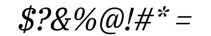 IBM Plex Serif Italic Font OTHER CHARS