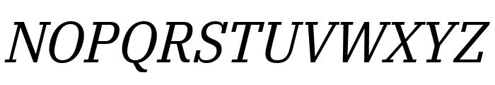 IBM Plex Serif Italic Font UPPERCASE