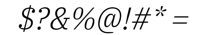 IBM Plex Serif Light Italic Font OTHER CHARS