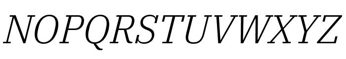 IBM Plex Serif Light Italic Font UPPERCASE