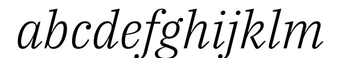 IBM Plex Serif Light Italic Font LOWERCASE