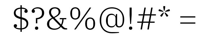 IBM Plex Serif Light Font OTHER CHARS