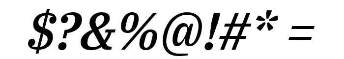 IBM Plex Serif Medium Italic Font OTHER CHARS