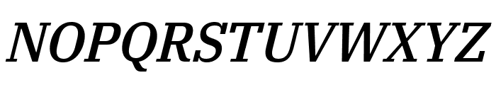 IBM Plex Serif Medium Italic Font UPPERCASE