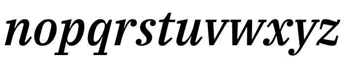 IBM Plex Serif Medium Italic Font LOWERCASE