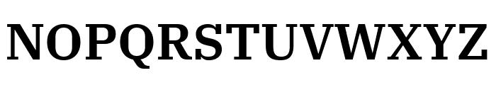 IBM Plex Serif SemiBold Font UPPERCASE