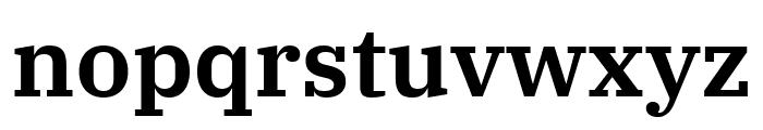 IBM Plex Serif SemiBold Font LOWERCASE