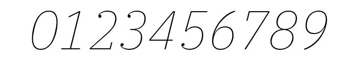 IBM Plex Serif Thin Italic Font OTHER CHARS