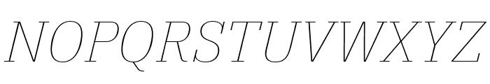 IBM Plex Serif Thin Italic Font UPPERCASE