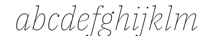 IBM Plex Serif Thin Italic Font LOWERCASE