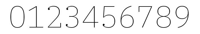 IBM Plex Serif Thin Font OTHER CHARS