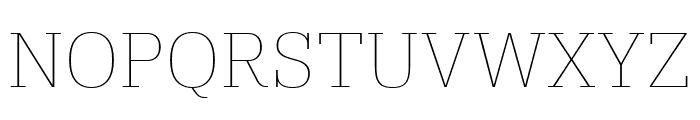IBM Plex Serif Thin Font UPPERCASE
