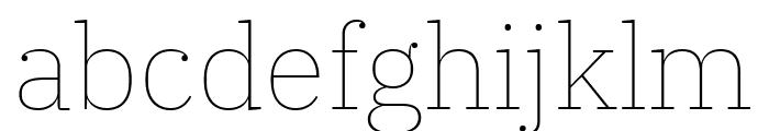 IBM Plex Serif Thin Font LOWERCASE