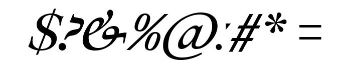 Ibarra Real Nova Italic Font OTHER CHARS