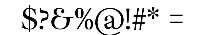 Ibarra Real Nova Regular Font OTHER CHARS