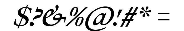 Ibarra Real Nova SemiBold Italic Font OTHER CHARS
