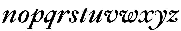 Ibarra Real Nova SemiBold Italic Font LOWERCASE