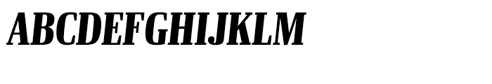 Ibis Display Compressed Black Italic Font UPPERCASE