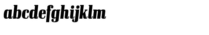 Ibis Display Compressed Black Italic Font LOWERCASE