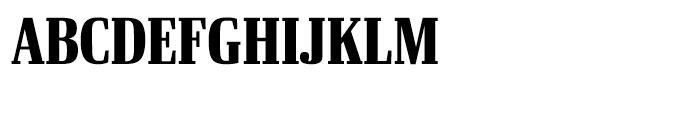 Ibis Display Compressed Black Font UPPERCASE