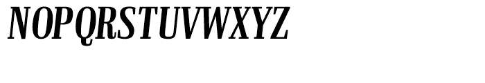 Ibis Display Compressed Semi Bold Italic Font UPPERCASE