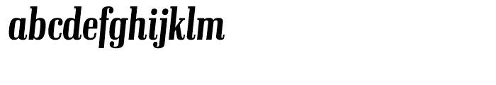 Ibis Display Compressed Semi Bold Italic Font LOWERCASE