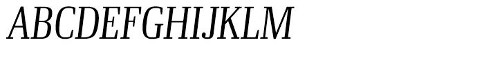 Ibis Display Condensed Extra Light Italic Font UPPERCASE