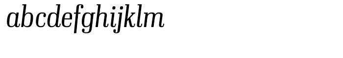 Ibis Display Condensed Extra Light Italic Font LOWERCASE
