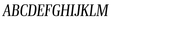 Ibis Display Condensed Light Italicc Font UPPERCASE