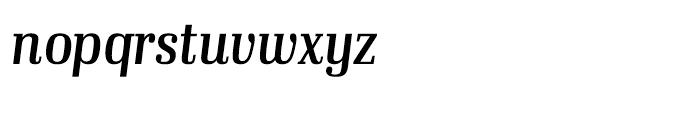 Ibis Display Condensed Regular Italic Font LOWERCASE