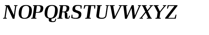 Ibis Display Semi Bold Italic Font UPPERCASE