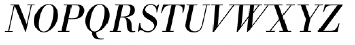 IBM Bodoni Italic Font UPPERCASE