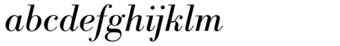 IBM Bodoni Italic Font LOWERCASE