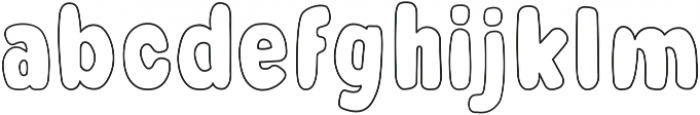 Ice Cream otf (400) Font LOWERCASE