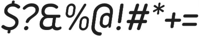 Iconic Medium Italic otf (500) Font OTHER CHARS