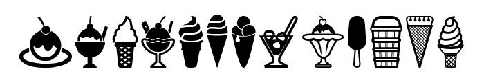 Ice Cream Icons Font UPPERCASE