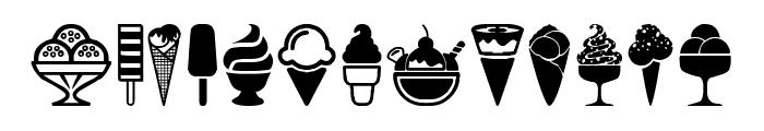 Ice Cream Icons Font LOWERCASE