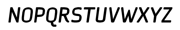 Ice Sans BoldItalic Font UPPERCASE