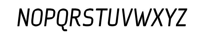 Ice Sans Italic Font UPPERCASE