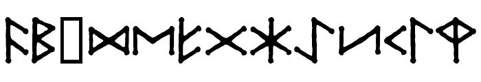Ice-egg Futhark Regular Font UPPERCASE