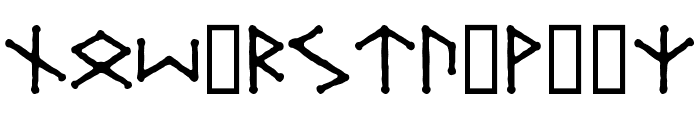 Ice-egg Futhark Regular Font LOWERCASE