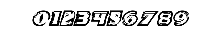 Icebox Art Staggered Italic Font OTHER CHARS