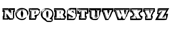 Icebox Art Staggered Regular Font UPPERCASE