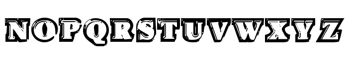 Icebox Art Staggered Regular Font LOWERCASE