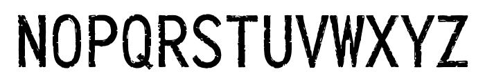 IckyTicket Mono Font UPPERCASE